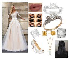 """Alexandria wedding"" by ellabellamariehill ❤ liked on Polyvore featuring Badgley Mischka, Allurez, Kate Spade and Avenue"