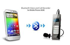 Voice and Call Recorder for Mobile Phones - Bluetooth, 8GB #UnbrandedGeneric