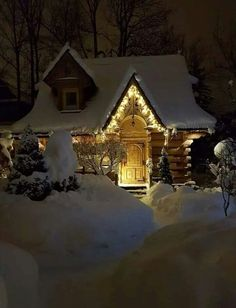 Weihnachten What a winter, # for picture nature Parenting - Find The Right Balanc I Love Winter, Winter Night, Winter Snow, Cabin In The Woods, Winter Magic, Log Cabin Homes, Log Cabins, Snow Scenes, Cabins And Cottages