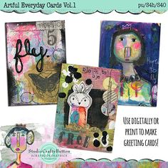 Scrapbookgraphics.com :: Cards & Crafts :: Artful Everyday Cards Vol.1