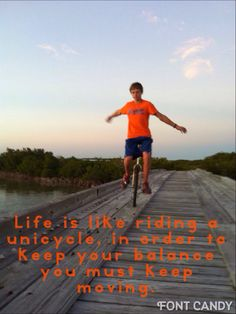 Riding a unicycle #unicycle