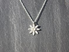 Flower necklace/Pendant fine silver by MeltSilver on Etsy