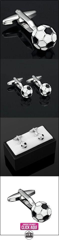 R&B Joyas - Gemelos, estilo copa del mundo balón de fútbol, acero inoxidable, color plateado / negro  ✿ Joyas para niños - Regalos ✿ ▬► Ver oferta: http://comprar.io/goto/B00CIQWDTA