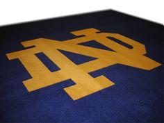 Notre Dame College Logo Rug
