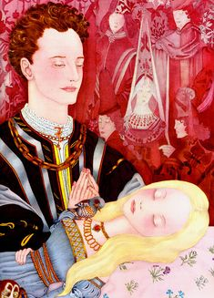 """Sleeping Beauty"" from The Fairy Tale Book (Golden Press, 1958), illustrated by Adrienne Segur (French, 1901-1981)"