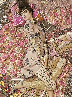 """Steven Meisel - """"Vogue Patterns"""" - Vogue Italia Diciembre 2007 by destevenmeisel, via Flickr"""