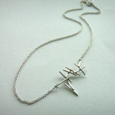 Silver Falling Twig Necklace £29.00