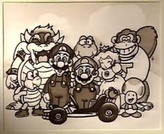 From a Japanese store promo for Super Mario Kart.