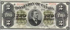 The Online Canadian Paper Money Museum 2 Dollar Bill, Two Dollars, Old Money, Dollar Coin, Accounting, Stamps, Mint, Notes, Antiques