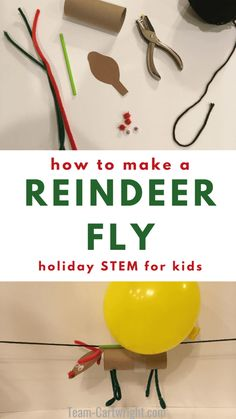 Make reindeer fly with this fun Christmas STEM activity! This holiday science project is perfect for preschoolers, kindergarten, and up. Even adults will love the challenge. This easy holiday science fun will become a family tradition. Christmas Activities For Kids, Christmas Fun, Holiday Fun, Reindeer Christmas, Christmas Projects For Kids, Christmas Poster, Kid Projects, Christmas Wedding, Holiday Crafts