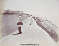 KEMPTOWN SLOPES AND BEACH. Do not be misled by the rails of the beach. It is not Volk's Railway as the photograph is earlier than the previous one. Note the gas lamps not electric Standards. Period about