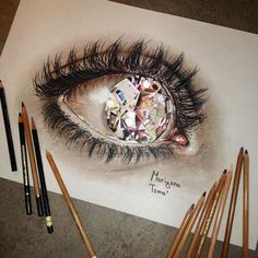 Картинка с тегом «art, eye, and drawing»