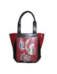 ESPE Vacation Red Tote Bag Purse Handbag