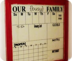 credit: Somewhat Simple [ http://www.somewhatsimple.com/dry-erase-glass-calendar/]