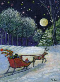 Sleighing by the Moon