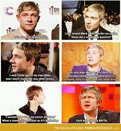 He's got Sherlock's personality in real life