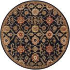 Middleton Jenna Navy (Blue) 3 ft. 6 in. x 3 ft. 6 in. Round Indoor Area Rug
