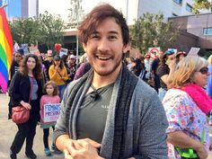 Markiplier on Twitter: About to be swept up in the flow of people!