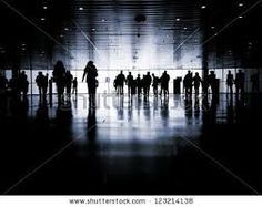 Image result for silhouettes of random ppl on a busy street