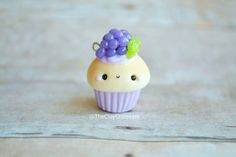 DIY your photo charms, compatible with Pandora bracelets. Make your gifts special. Make your life special! Kawaii Grape Cupcake Charm Polymer Clay Charm by TheClayCroissant Polymer Clay Cupcake, Cute Polymer Clay, Cute Clay, Polymer Clay Miniatures, Polymer Clay Projects, Polymer Clay Charms, Polymer Clay Creations, Diy Clay, Clay Crafts