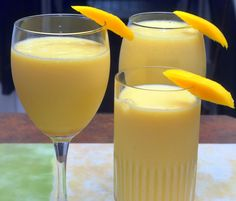 #Mango #Lassi is #delicious drink and it is especially refreshing during the summer months! It is made with a few simple ingredients: mango, plain yogurt, honey and a dash of cardamom. It tastes just like a creamy mango smoothie! #drink #mangodrink #testy