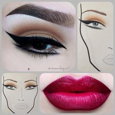 Neutral cut crease and pin up eye liner with pink lips by Depeche Gurl