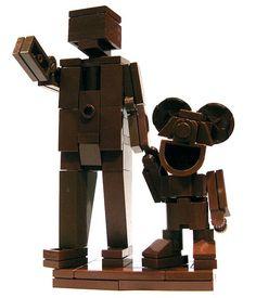 Lego Partners! Mickey looks a bit creepy, but still cool.