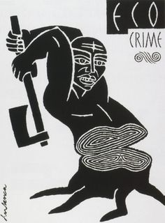 """Eco Crime"" Poster by Luba Lukova"