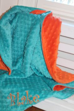 Soft Minky Chenille Personalized Baby Blanket in by SewEmbroiderMe, $37.99