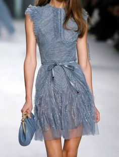 Elie Saab, clothes, dresses, blue