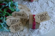 I will definitely have the Alice in Wonderland tags.