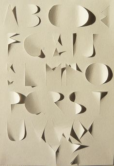 Alphabet cut out type