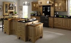 Dante Light Oak Antiqued from the Kitchen Stori collection - available by Kitchens Direct NI Kitchen Fittings, Popular Kitchen Designs, Hgtv Kitchens, Kitchens And Bedrooms, Classic Kitchens, Kitchen Design Trends, Kitchen Plans, Kitchen Units, Kitchen Pantry Design