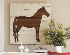 Bromeliad: Make rustic equestrian art - Fashion and home decor DIY and inspiration