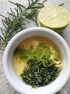 Mantequilla con romero y limón | http://www.pizcadesabor.com