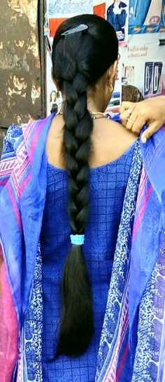 Indian Hairstyles, Down Hairstyles, Braided Hairstyles, Long Silky Hair, Long Black Hair, Indian Long Hair Braid, Beautiful Braids, Cut My Hair, Braids For Long Hair