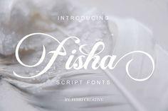 Fisha Script (Font) by Febri Creative · Creative Fabrica Great Fonts, Cool Fonts, New Fonts, Awesome Fonts, Script Logo, Typography Fonts, Lettering, Beautiful Fonts, Handwriting Fonts