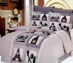 1000 Images About Vintage Paris Bedding On Pinterest Quilt Bedding Sets Package Deal And