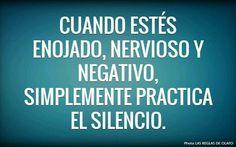 Practicar el silencio en los malos momentos