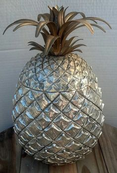 Mauro Manetti Silver Pineapple Ice Bucket circa by Flavsantiques