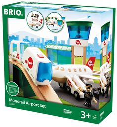 Amazon.com: Brio Monorail Airport Set: Toys & Games