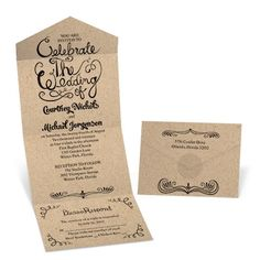 Rustic Celebration Seal and Send Wedding Invitation