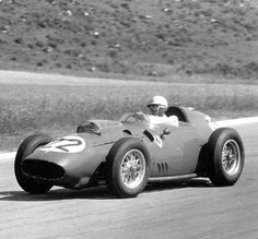 1959 French Grand Prix in a Ferrari Dino 246. Olivier finished fourth in the race won by his teammate Tony Brooks in a similar car. Olivier made his GP debut in a much less competitive Ferrari 625 in Agentina 1956 but still