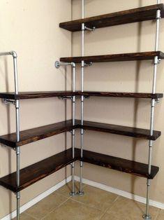 wood corner shelf ideas 25