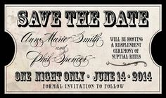 Country Rustic Vintage Wedding Invitation // Concert by Idowithyou