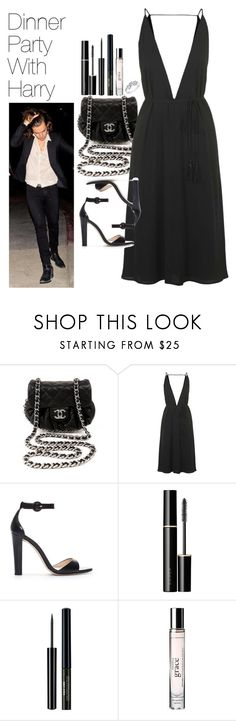 """Dinner Party with Harry"" by onedirectionimagineoutfits99 ❤ liked on Polyvore featuring Chanel, Topshop, Zara, SUQQU, philosophy and Reeds Jewelers"