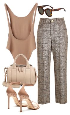 """Sin título #4023"" by camilae97 ❤ liked on Polyvore featuring Marc Jacobs, CÉLINE, Alexander Wang and Yves Saint Laurent"