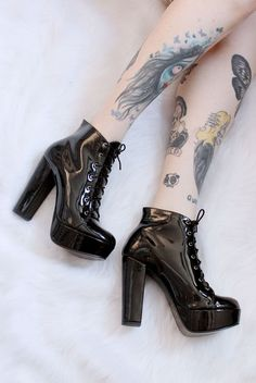 Aesthetic Of me Ankle Boots, Wedge Boots, Heeled Boots, Boot Jewelry, High Heels, Shoes Heels, Cute Boots, Dream Shoes, Black Shoes