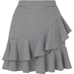 Miss Selfridge Black Gingham Ruffle Mini Skirt African Fashion Skirts, African Dress, Frilly Skirt, Ruffled Skirts, Skirt Outfits, Dress Skirt, Short Skirts, Mini Skirts, Gingham