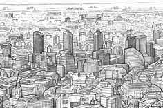 https://www.behance.net/gallery/10159047/London-Panorama-Drawing-the-view-from-the-Shard